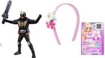 ハッピーセット6月~7月仮面ライダーゴーストとアイカツスターズおもちゃの一例.jpg
