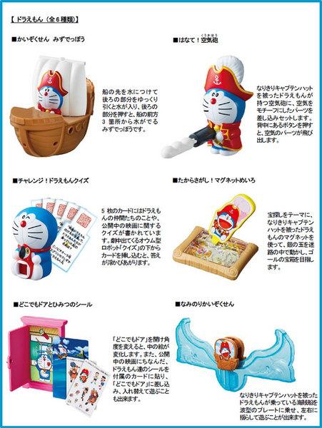 ハッピーセットドラえもんの6種類おもちゃ、2018年3月16日.jpg